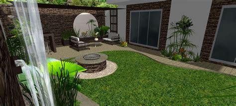 dise帽o de patios y jardines suelo porcelanico en colores retro