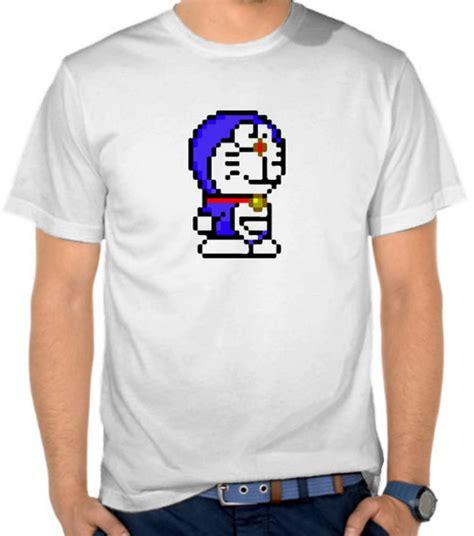 Kaos Distro Doraemon 3 jual kaos doraemon pixel pixel satubaju
