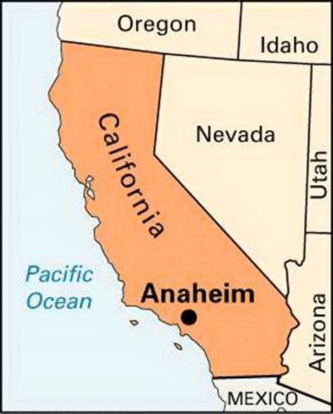 where is anaheim california on the map anaheim location encyclopedia children s