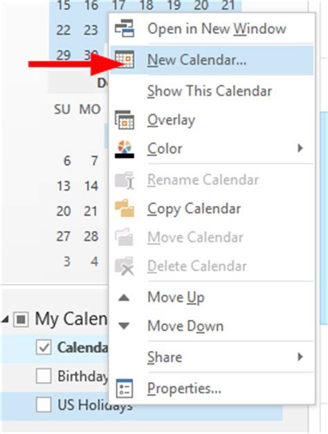 How To Add Calendar In Outlook How To Create A New Calendar In Microsoft Outlook 365