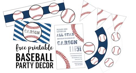 printable baseball party decorations free baseball printables baseball party decorations