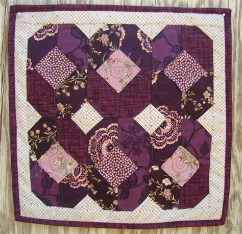 Patchwork Dolls Patterns - purple pansies doll quilt free pattern