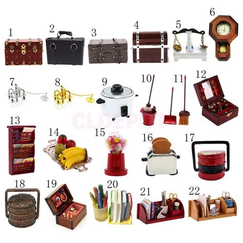 dollhouse miniature doll family furniture kits for 1 12