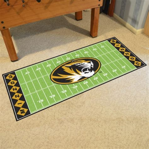missouri tigers football field runner rug