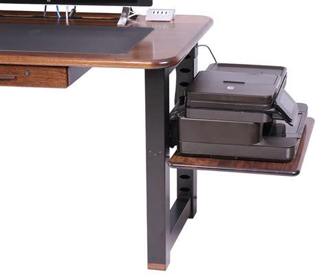 desk with printer shelf large shelf for loft desk walnut caretta workspace