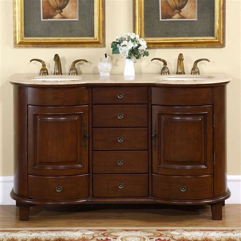 59 Bathroom Vanity Sink by Silkroad Exclusive Traditional 59 Quot Sink Bathroom