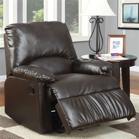 Vinyl Recliner Chairs by Shop Coaster Furniture Brown Vinyl Recliner At Lowes
