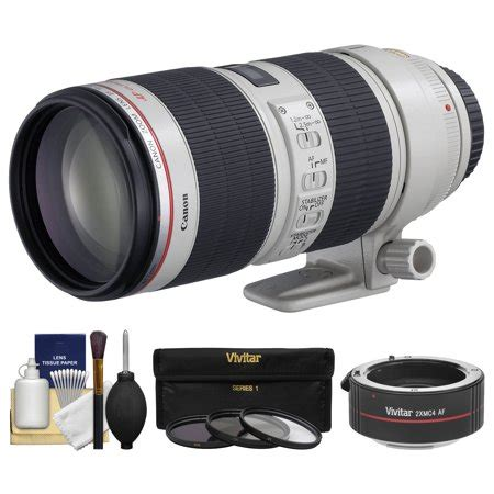 canon ef 70 200mm f/2.8 l is ii usm zoom lens with 2x