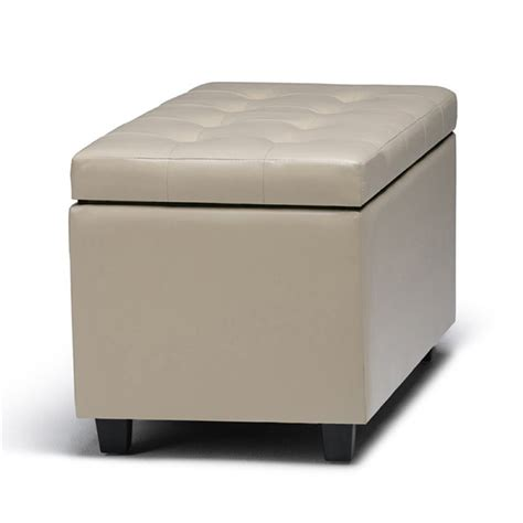 cream leather storage bench faux leather storage bench in cream ay s 38 cr