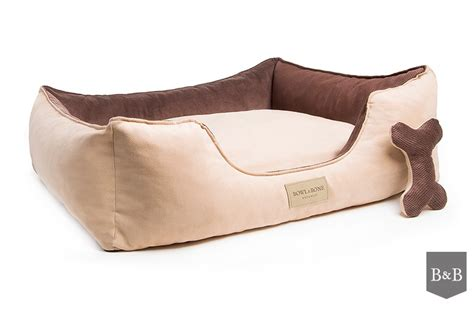 bed and bone bowl and bone classic dog bed brown luxury dog beds