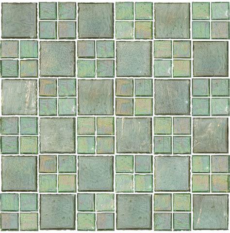 Handmade Glass Tile - transparent green handmade glass tile contemporary