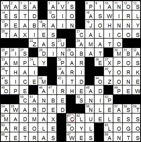 recurring themes crossword puzzle clue l a times crossword corner friday november 19 2010