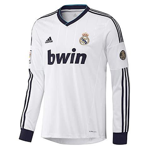 Jersey Baju Bola Real Madrid Away Longsleeve 20172018 Grade Ori Murah 2012 13 real madrid adidas sleeve home shirt w41762 uksoccershop