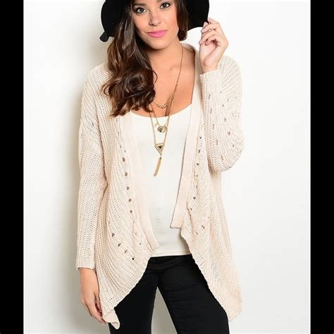 drape cardigan sweater cream drape open front cardigan sweater from shaney s