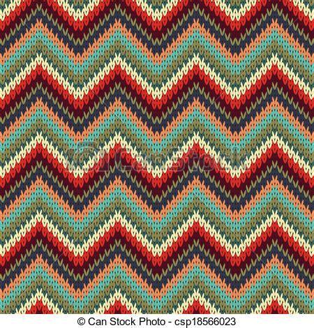 drawing knitting pattern vector illustration of seamless zigzag knitting pattern