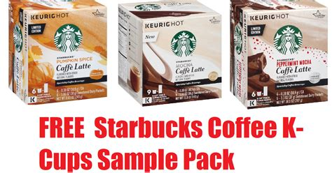 Coupons And Freebies: Free Starbucks Caffè Latte Coffee K Cups Sample Pack