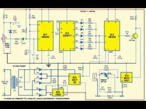 fan light remote circuit remote controlled fan regulator circuit diagram