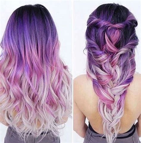 colorful ombre purple ombre hair purple in 2018