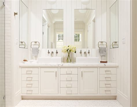 Large Mirrors For Bathroom Vanity by Master Bathroom White Vanity With Two Sinks And Large