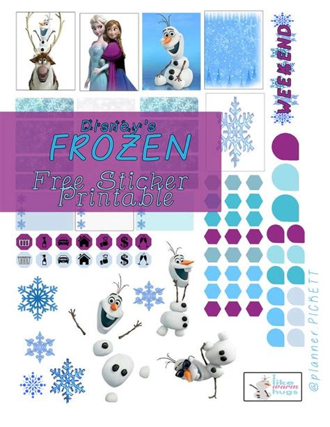 printable frozen stickers free frozen free sticker printable for planners crafters