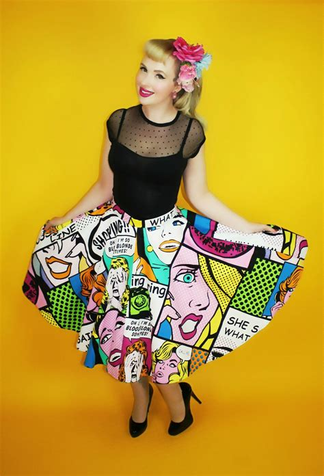 Pop Skirt circle skirt rockabilly vintage inspired clothing