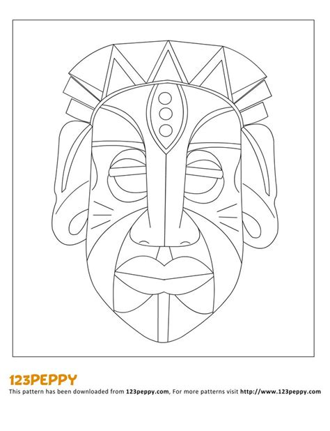 printable african art printable how to make pattern how to make an african