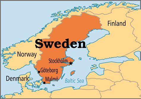sweden on a map sweden operation world