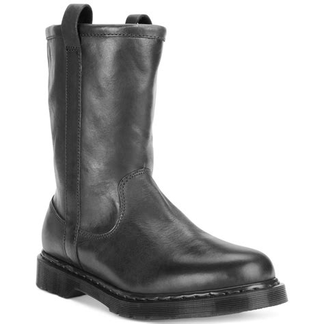in rigger boots dr martens idris rigger boots in black for lyst
