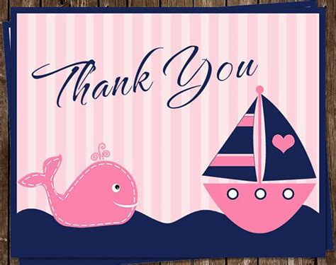 nautical thank you card template 1000 images about nautical birthday on