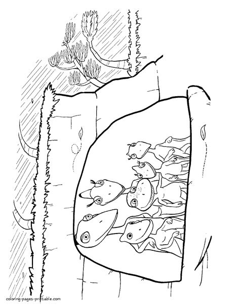dinosaur family coloring page dinosaur family are hiding in the cave