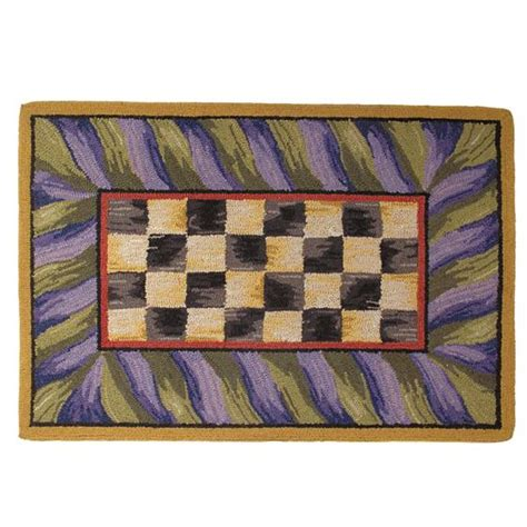 mackenzie childs courtly check rug    rectangle
