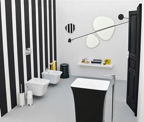 art deco black and white bathroom the artceram cow collection adds black magic to your art