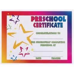 neon stars preschool certificate anderson s