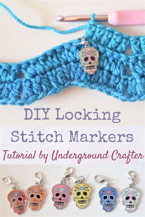stitches diy diy locking stitch markers for crochet and knitting