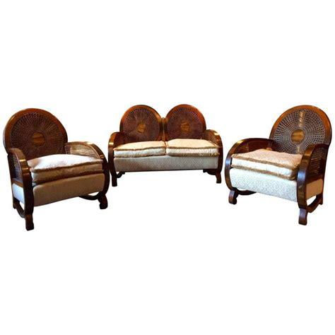 art deco settee art deco sofa suite settee armchairs walnut circa 1930s