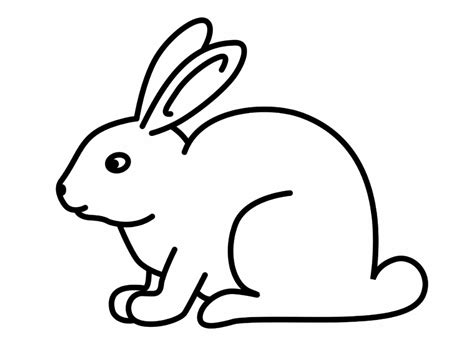 Simple Rabbit Coloring Page | drawing of rabbit simple drawings nocturnal