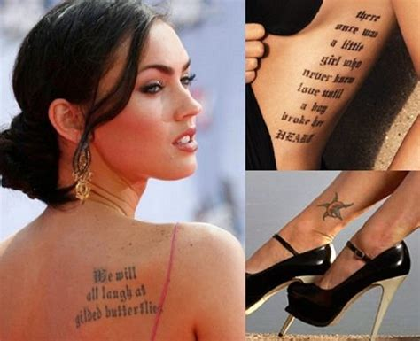 megan fox tattoos top 10 tattoos top inspired