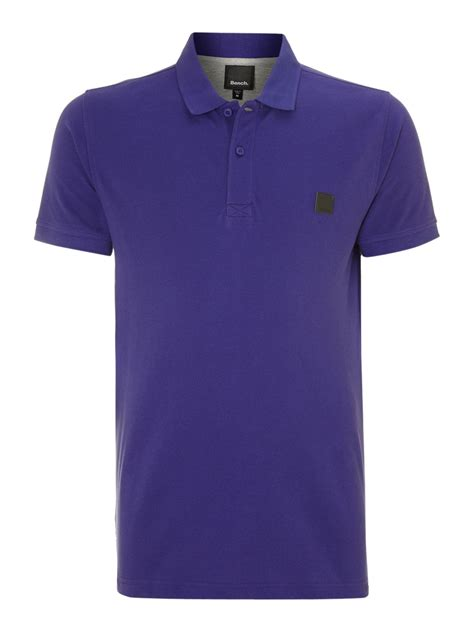 bench shirt for men lyst bench tipped polo shirt in blue for men