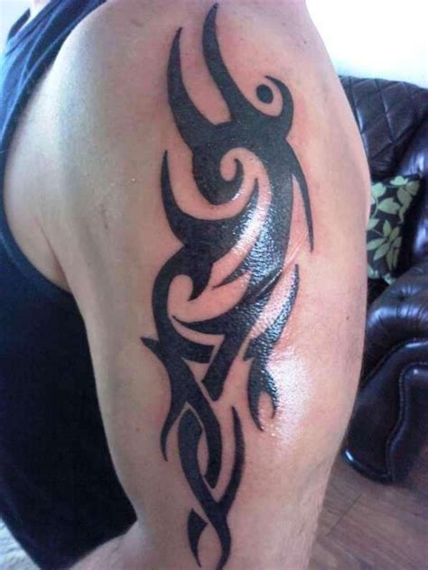 upper arm tribal tattoos wolf tribal arm tattoos inofashionstyle