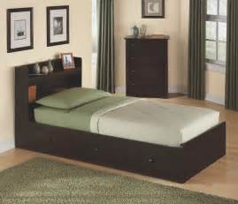 Size Of A Twin Bed twin size storage bed with headboard in walnut 316 301