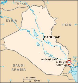 where is basra on a map battle of basra 2008