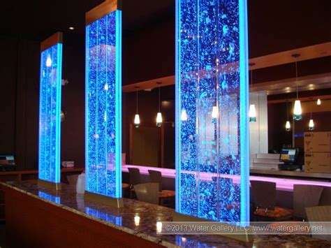 glass wall design interior luxurious decorative indoor waterfall with