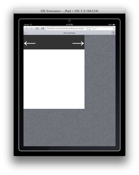 ipad css layout with landscape portrait orientations demo javascript how to fit to screen after changing viewport