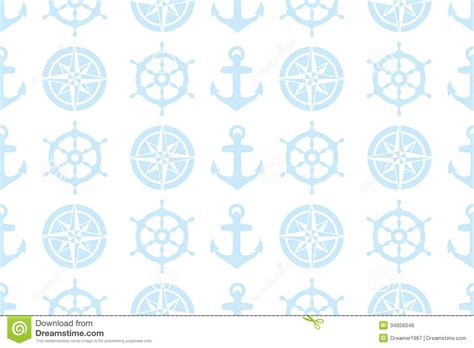 seamless nautical pattern nautical seamless pattern for fabric royalty free stock