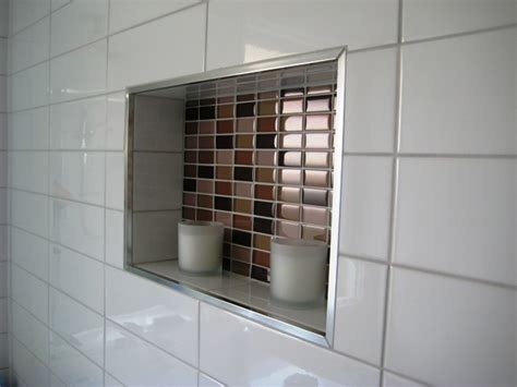 Bathroom recessed shelf feature tdr property services