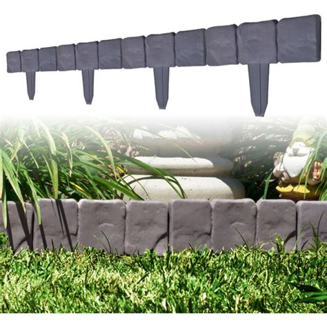 stone flower bed border terratrade 10pc cobblestone flower bed border walmart com