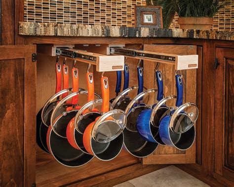 Pull Out Hanging Pot Rack by Glideware Simplifies Accessible Storage Remodeling