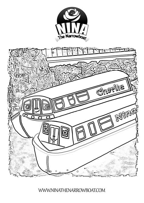 canal boat line drawing canal coloring download canal coloring