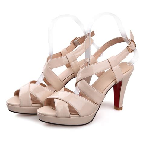 Sandal Heel Fashion Sdp 02 comist2014 size 3 8 summer fashion high heels sandals flat peep solid cow