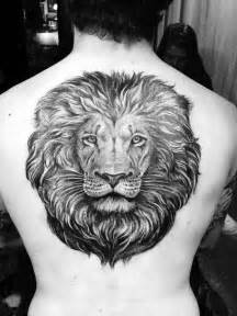 50 lion back tattoo designs for men masculine big cat